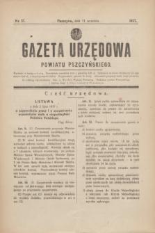 Gazeta Urzędowa Powiatu Pszczyńskiego.1937, nr 37 (11 września)