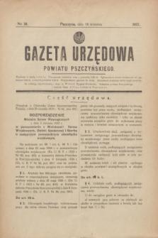Gazeta Urzędowa Powiatu Pszczyńskiego.1937, nr 38 (18 września)