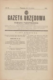 Gazeta Urzędowa Powiatu Pszczyńskiego.1937, nr 39 (25 września)