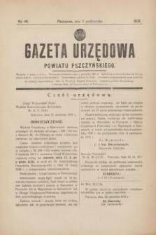 Gazeta Urzędowa Powiatu Pszczyńskiego.1937, nr 40 (2 października)