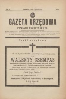 Gazeta Urzędowa Powiatu Pszczyńskiego.1937, nr 41 (9 października)