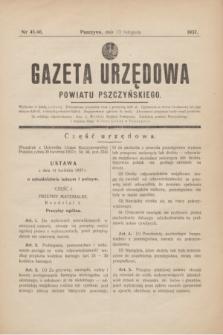 Gazeta Urzędowa Powiatu Pszczyńskiego.1937, nr 45/46 (13 listopada)