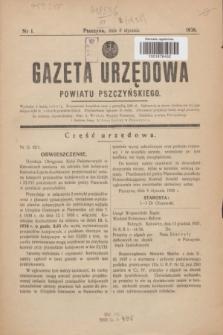 Gazeta Urzędowa Powiatu Pszczyńskiego.1938, nr 1 (8 stycznia)