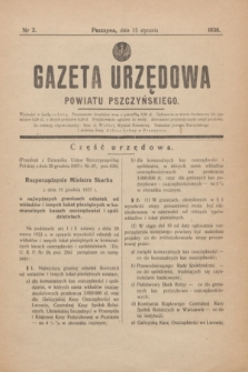 Gazeta Urzędowa Powiatu Pszczyńskiego.1938, nr 2 (15 stycznia)