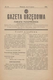 Gazeta Urzędowa Powiatu Pszczyńskiego.1938, nr 3/4 (27 stycznia) + dod.