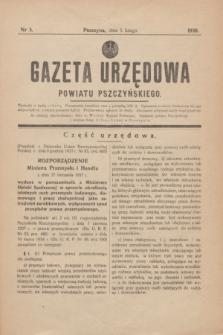 Gazeta Urzędowa Powiatu Pszczyńskiego.1938, nr 5 (5 lutego)