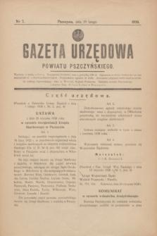 Gazeta Urzędowa Powiatu Pszczyńskiego.1938, nr 7 (19 lutego)