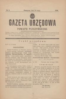 Gazeta Urzędowa Powiatu Pszczyńskiego.1938, nr 8 (26 lutego)