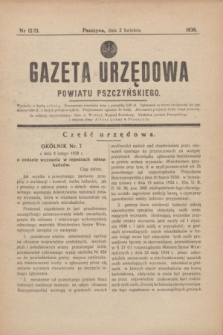 Gazeta Urzędowa Powiatu Pszczyńskiego.1938, nr 12/13 (2 kwietnia)