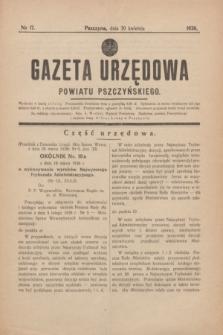 Gazeta Urzędowa Powiatu Pszczyńskiego.1938, nr 17 (30 kwietnia)