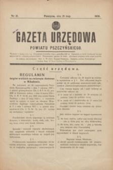 Gazeta Urzędowa Powiatu Pszczyńskiego.1938, nr 21 (28 maja)