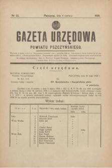 Gazeta Urzędowa Powiatu Pszczyńskiego.1938, nr 22 (4 czerwca)