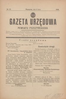 Gazeta Urzędowa Powiatu Pszczyńskiego.1938, nr 27 (9 lipca)