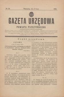 Gazeta Urzędowa Powiatu Pszczyńskiego.1938, nr 28 (16 lipca)