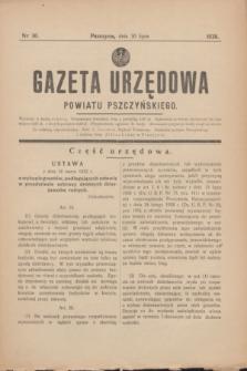 Gazeta Urzędowa Powiatu Pszczyńskiego.1938, nr 30 (30 lipca)