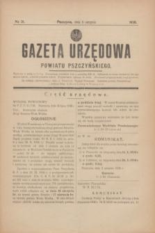 Gazeta Urzędowa Powiatu Pszczyńskiego.1938, nr 31 (6 sierpnia)