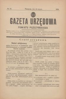 Gazeta Urzędowa Powiatu Pszczyńskiego.1938, nr 33 (20 sierpnia)