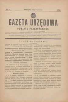 Gazeta Urzędowa Powiatu Pszczyńskiego.1938, nr 35 (3 września)