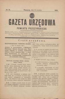 Gazeta Urzędowa Powiatu Pszczyńskiego.1938, nr 36 (10 września)