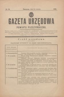Gazeta Urzędowa Powiatu Pszczyńskiego.1938, nr 38 (24 września)