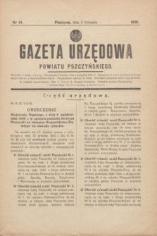 Gazeta Urzędowa Powiatu Pszczyńskiego.1938, nr 44 (5 listopada)
