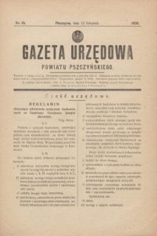 Gazeta Urzędowa Powiatu Pszczyńskiego.1938, nr 45 (12 listopada)