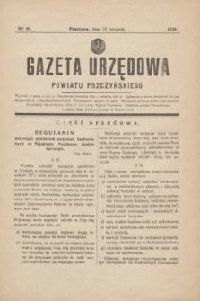 Gazeta Urzędowa Powiatu Pszczyńskiego.1938, nr 46 (19 listopada)