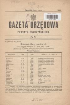 Gazeta Urzędowa Powiatu Pszczyńskiego.1939, nr 9 (4 marca)