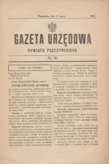 Gazeta Urzędowa Powiatu Pszczyńskiego.1939, nr 10 (11 marca)