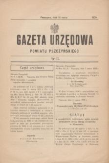 Gazeta Urzędowa Powiatu Pszczyńskiego.1939, nr 11 (18 marca)