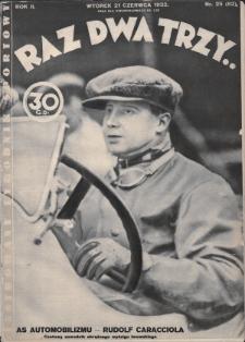 Raz, Dwa, Trzy : ilustrowany tygodnik sportowy. 1932, nr25