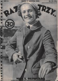 Raz, Dwa, Trzy : ilustrowany tygodnik sportowy. 1932, nr33