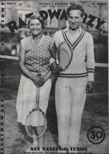 Raz, Dwa, Trzy : ilustrowany tygodnik sportowy. 1932, nr36