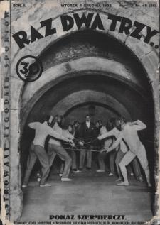 Raz, Dwa, Trzy : ilustrowany tygodnik sportowy. 1932, nr49