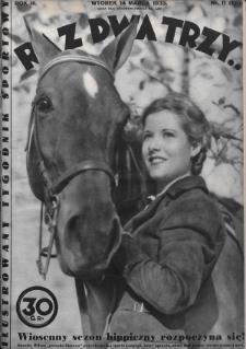 Raz, Dwa, Trzy : ilustrowany tygodnik sportowy. 1933, nr11