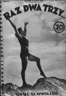 Raz, Dwa, Trzy : ilustrowany kuryer sportowy. 1933, nr28