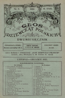 Głos Dziewcząt Polskich. R. 29. 1933, nr6 |PDF|