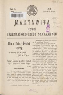 Maryawita : czciciel Przenajświętszego Sakramentu. R.2, № 1 (2 stycznia 1908)