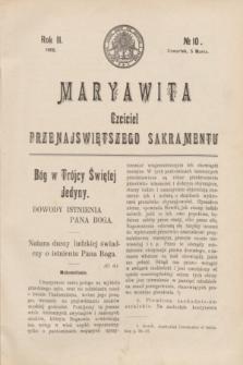Maryawita : czciciel Przenajświętszego Sakramentu. R.2, № 10 (5 marca 1908)