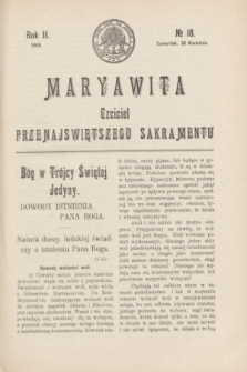 Maryawita : czciciel Przenajświętszego Sakramentu. R.2, № 18 (30 kwietnia 1908)