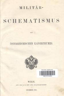 Militär-Schematismus des Österreichischen Kaiserthumes. 1859