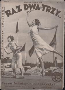 Raz, Dwa, Trzy : ilustrowany tygodnik sportowy. 1931, nr3