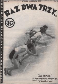 Raz, Dwa, Trzy : ilustrowany tygodnik sportowy. 1931, nr8