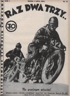 Raz, Dwa, Trzy : ilustrowany tygodnik sportowy. 1931, nr11