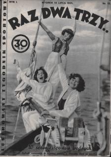 Raz, Dwa, Trzy : ilustrowany tygodnik sportowy. 1931, nr13