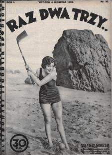 Raz, Dwa, Trzy : ilustrowany tygodnik sportowy. 1931, nr16
