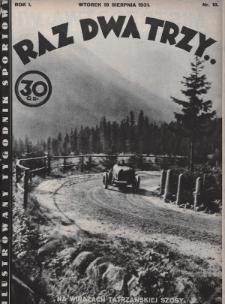 Raz, Dwa, Trzy : ilustrowany tygodnik sportowy. 1931, nr18