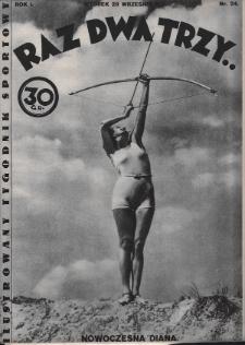 Raz, Dwa, Trzy : ilustrowany tygodnik sportowy. 1931, nr24