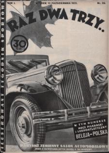 Raz, Dwa, Trzy : ilustrowany tygodnik sportowy. 1931, nr26
