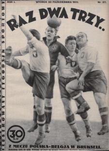 Raz, Dwa, Trzy : ilustrowany tygodnik sportowy. 1931, nr27